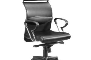Furniture Ergonomic Black Leather High Back Executive