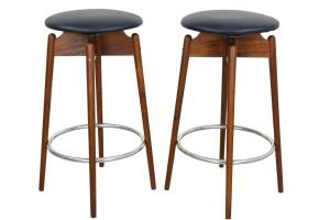 Furniture Teak Mid Century Modern Bar Stools