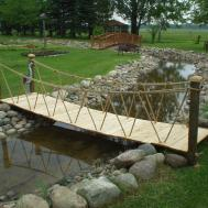 Garden Bridges 52ft Long Elegant Wooden Landscape