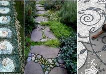 Garden Pathway Pebble Mosaic Ideas Your Home