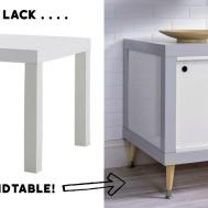 Genius Hack Lack Diy Endtable Diycandy