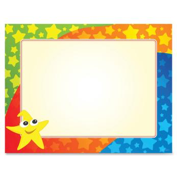 Geo Geographics Color Stars Border Certificates