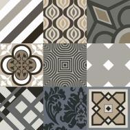 Geometric Decor Polished Tiles Arte X10mm