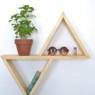 Geometric Diy Wall Shelf Minimalist Desk Design Ideas
