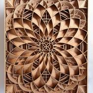 Geometric Laser Cut Wood Relief Sculptures Gabriel