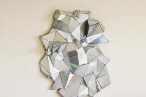 Geometric Mirror Handmade Home Decor Pop Art Sculpture