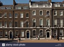 Georgian Houses Bedford Square London England Stock