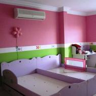 Girls Bedroom Paint Ideas White Gray Colors Covered
