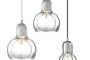 Glass Pendant Light Industrial Edison Loft Mega Bulb