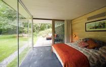 Glass Wall Bedroom Rural Retreat Bantam Connecticut