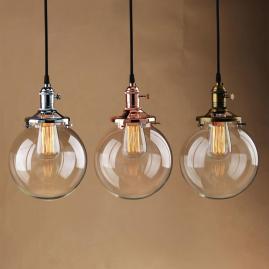 Globe Shade Antique Vintage Industri Pendant Light