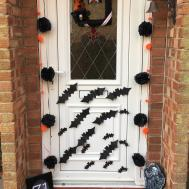 Glorious Front Door Garlands Halloween