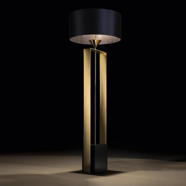 Gold Contemporary Designer Floor Lamp