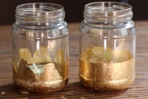 Gold Leaf Candle Jars Crafted Life