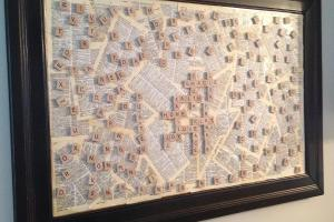 Gracie Blue Wall Art Kitchen Scrabble Board Diy