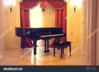 Grand Piano Luxury Interior Stock