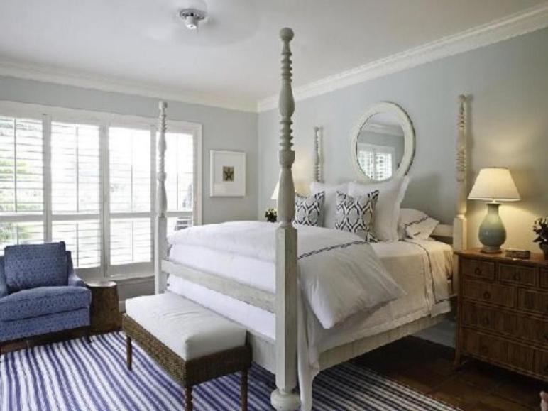 Gray Bedroom Decor Blue