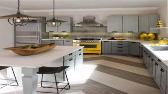 Gray White Yellow Kitchen Houses Gardens People Ideas