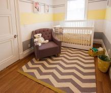Gray Yellow Nursery Designs Refreshing Elegance