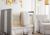 Gray Yellow Nursery Designs Refreshing Elegance