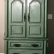 Green Armoire Painted Furniture
