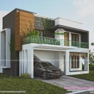 Green Home Contemporary Style Kerala Design Floor