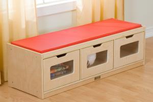 Guidecraft Easy Storage Bench Toy Hayneedle