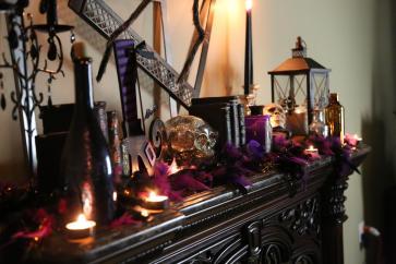 Hair Raising Halloween Mantel Decorating Ideas Twin Star