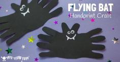 Halloween Bat Handprint Craft Kids Room