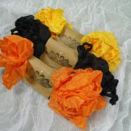 Halloween Cinkled Ribbon Hand Scrunched Straight
