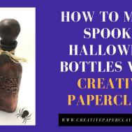 Halloween Decor Spooky Spell Bottles Creative Paperclay