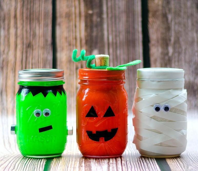 Halloween Mason Jars Jar Crafts Love