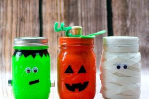 Halloween Mason Jars Jar Crafts Love