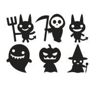 Halloween Spooky Demon Ghost Wall Glass Sticker