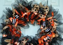 Halloween Whimsy Diy Ribbon Wreath