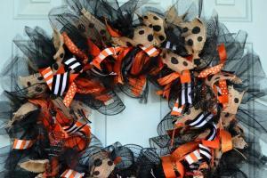 Halloween Whimsy Diy Ribbon Wreath