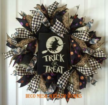 Halloween Wreath Wreaths Trick Treat