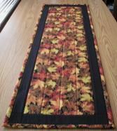 Handmade Quilted Table Runner Fall Leaves Harvest