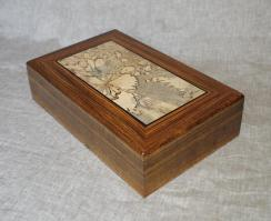 Handmade Wooden Keepsake Box Jewelry Valet Watch