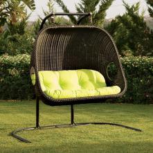 Hanging Wicker Chair Indoor Outdoor Extra Sitting