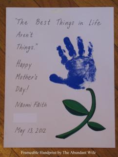 Happy Mother Day Diy Handprint Flowers Abundant Wife