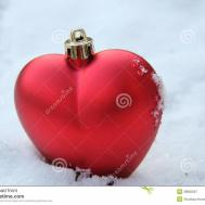 Heart Shaped Ornament Snow Stock