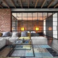 High End Bachelor Pad Design Stunning Loft Kiev