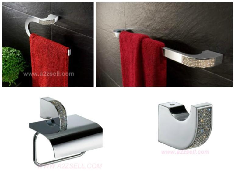 High End Bathroom Accessories Swarovski Crystals