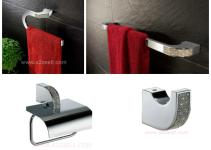 High End Bathroom Accessories Swarovski Crystals