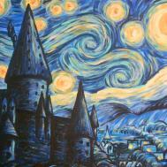 Hogwarts Starry Night Art Colony
