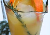 Holiday Drinks Rosemary Orange Punch Girl Walks