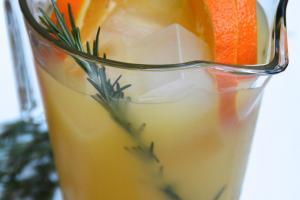 Holiday Drinks Rosemary Orange Punch Girl Walks