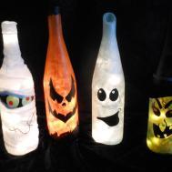 Holiday Wine Bottle Lights Set