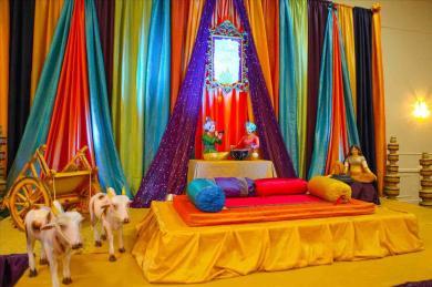 Home Backdrops Decoration Seasonal Gold Blue Pink